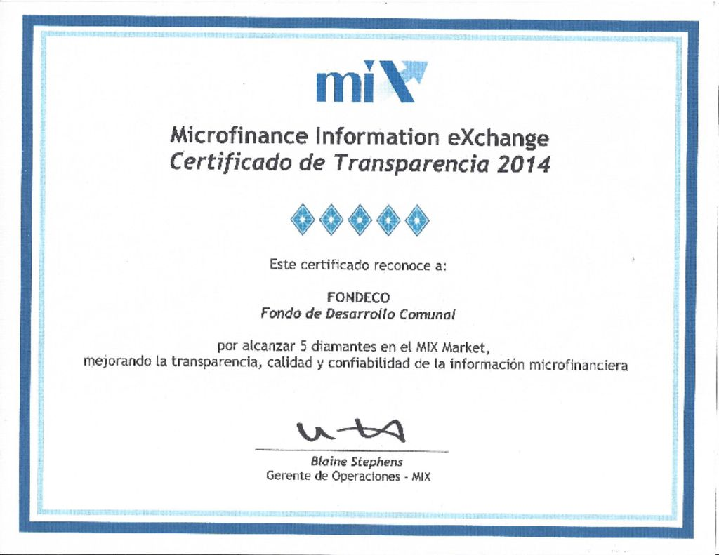 thumbnail of Certificado MIX 2014-