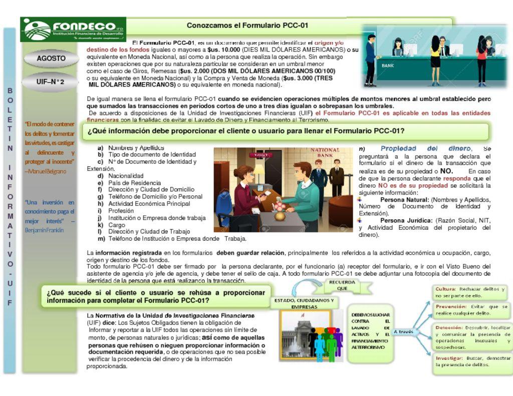 thumbnail of Boletin Formulario PCC-01 N° 2