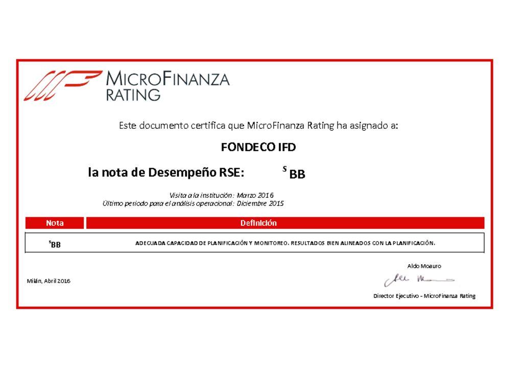 thumbnail of Ver Calificación RSE