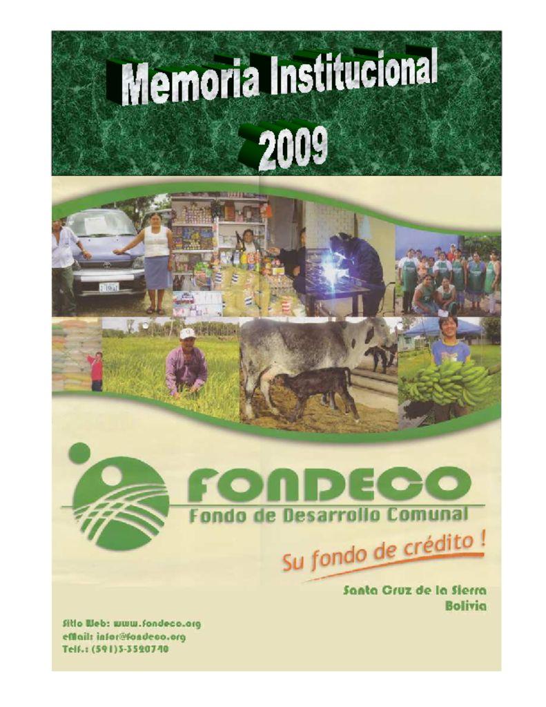 thumbnail of Memoria Institucional 2009
