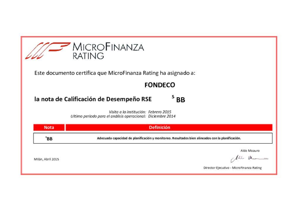 thumbnail of Ver Calificación RSE 2015