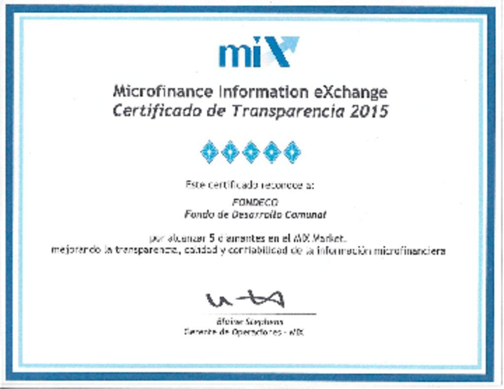thumbnail of Certificado MIX 2015