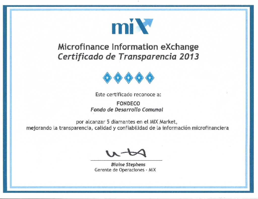 thumbnail of Certificado MIX 2013-