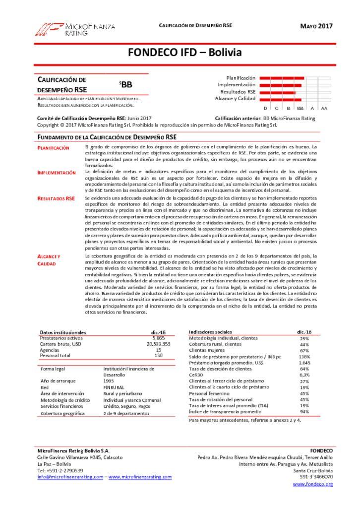 thumbnail of Informe Final calificación RSE FONDECO -Dic2016